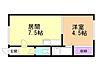 間取り,1DK,面積25.92m2,賃料3.7万円,バス 北見バス4条西4丁目下車 徒歩4分,JR石北本線 北見駅 徒歩12分,北海道北見市北六条西5丁目7番地