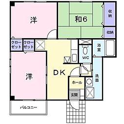 グランヴェール21A[1階]の間取り