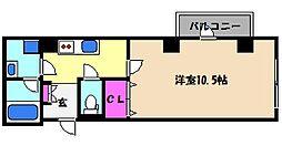阪神本線 深江駅 徒歩7分の賃貸マンション 6階1Kの間取り