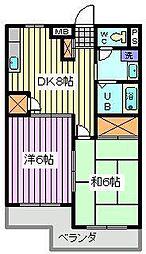 埼玉県さいたま市浦和区高砂4丁目の賃貸マンションの間取り