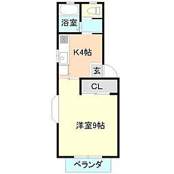 パルティールA棟[1階]の間取り