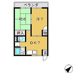 ニュー幸田プラザ[4E号室]の間取り