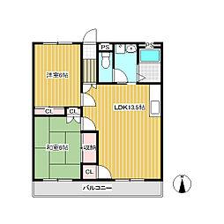 ツインパレスKOIZUMI E棟[3階]の間取り