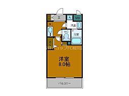 Osaka Metro中央線 弁天町駅 徒歩9分の賃貸マンション 3階1Kの間取り