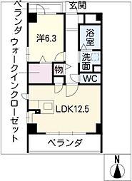 シェルフォーブルIII[4階]の間取り