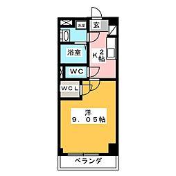 GRAN DUKE 算所[2階]の間取り