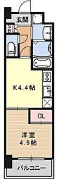アクアプレイス京都洛南II[C403号室号室]の間取り