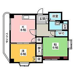 センチュリー21別館[2階]の間取り