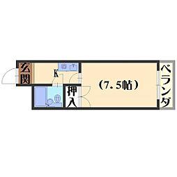 長岡ロイヤルパレス[B404号室]の間取り
