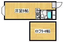 埼玉県ふじみ野市上福岡5丁目の賃貸アパートの間取り