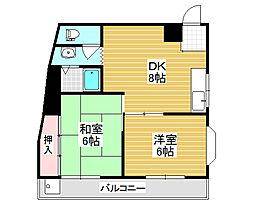 コーポ山崎[2階]の間取り