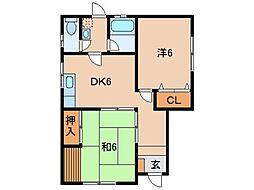 辻上文化住宅1号棟[1階]の間取り