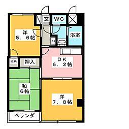 リバーサイド犬山[3階]の間取り
