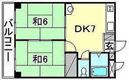 ビージョイマンション1号館[401 号室号室]の間取り