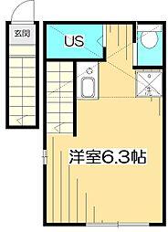 バーミープレイス武蔵小金井III[2階]の間取り