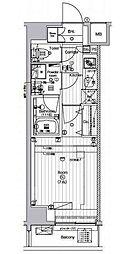 東京メトロ有楽町線 新木場駅 徒歩27分の賃貸マンション 8階1Kの間取り