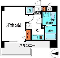 エスリード桜ノ宮レジデンス 5階1Kの間取り