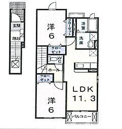ベイリーフ1[2階]の間取り