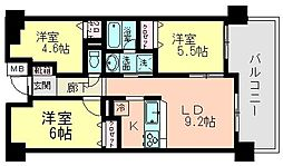 千葉県船橋市夏見1丁目の賃貸マンションの間取り