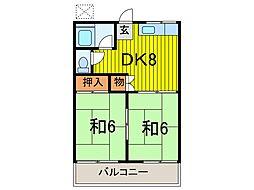 芝富士コーポ A棟[2階]の間取り