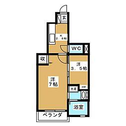 M&T沖野[1階]の間取り