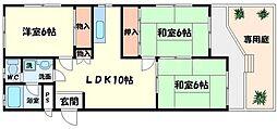 ハイツM&M[1階]の間取り