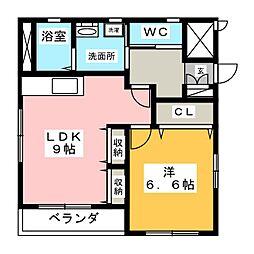 クレール車道II[3階]の間取り