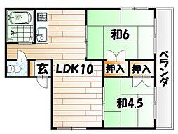 第一興産若戸ビル[301号室]の間取り