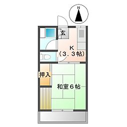 メゾン村田[A206号室]の間取り