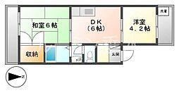 ユートピア歌敷山[2階]の間取り
