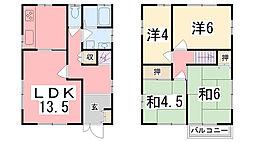 [一戸建] 兵庫県姫路市田寺東2丁目 の賃貸【兵庫県 / 姫路市】の間取り