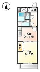 ブランメゾン八龍[4階]の間取り