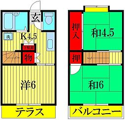 [テラスハウス] 埼玉県三郷市戸ヶ崎2丁目 の賃貸【/】の間取り