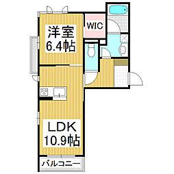 (仮)シャーメゾン高田 3階1LDKの間取り