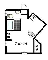 東京都港区白金台3丁目の賃貸マンションの間取り