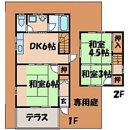 小鷹狩アパート[1階]の間取り