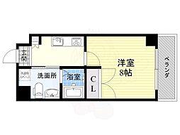 S-FORT江坂LIBERTS 5階1Kの間取り