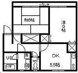 シーサイドコーポ B棟[202号室]の間取り