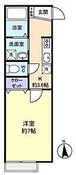 キャッスルたまき壱番館[2階]の間取り