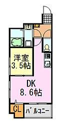 il centro本千葉駅前(イルチェントロ)[401号室]の間取り