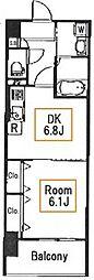 ライツ福助[6階]の間取り