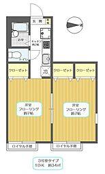アーカスKII[2階]の間取り