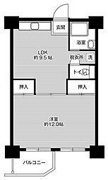 ビレッジハウス泉北栂タワー3階Fの間取り画像
