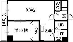 エステラ南3条館A[4階]の間取り