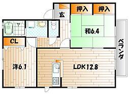 咲ら坂 E棟[2階]の間取り