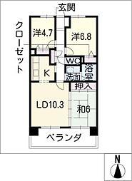 サンコート桃花台 A棟[7階]の間取り