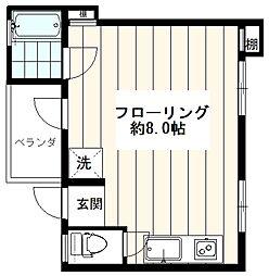 西武池袋線 東長崎駅 徒歩2分の賃貸マンション 4階ワンルームの間取り