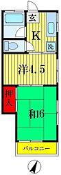 大河原荘[1階]の間取り