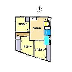 クレードル[1階]の間取り