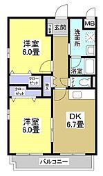 サンシャイン21[203号室]の間取り